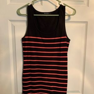 Black and pink striped dress
